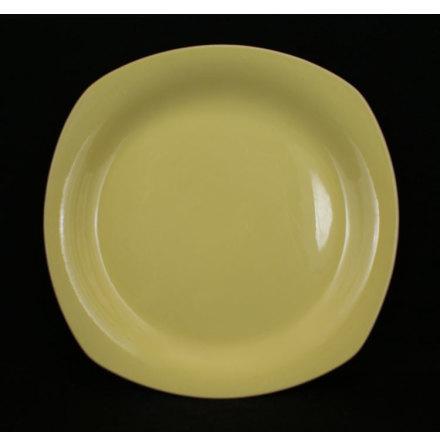 gul glasyr Flat tallrik