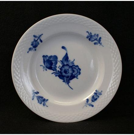 Blå Blomst - flettet Assiett 17,5 cm