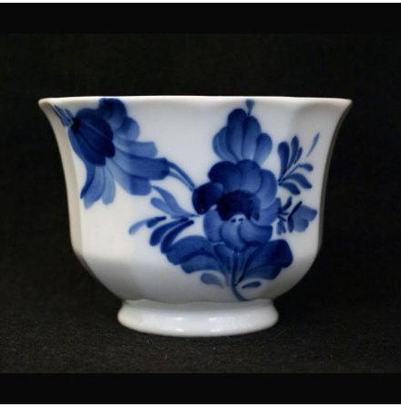 Blå Blomst - kantet Kruka