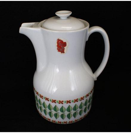 fler föremål Kaffekanna bladdekor