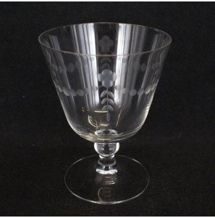 graverade glas Vinglas bård