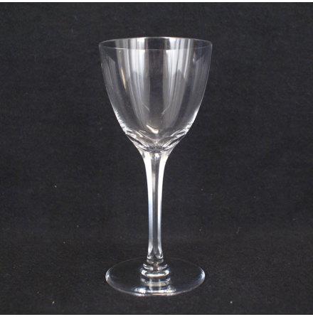 fasettslipat Vitvinsglas slipat ben