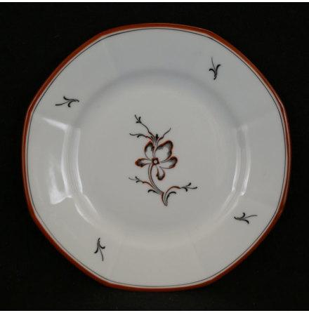 fler föremål Assiett blomma svart röd