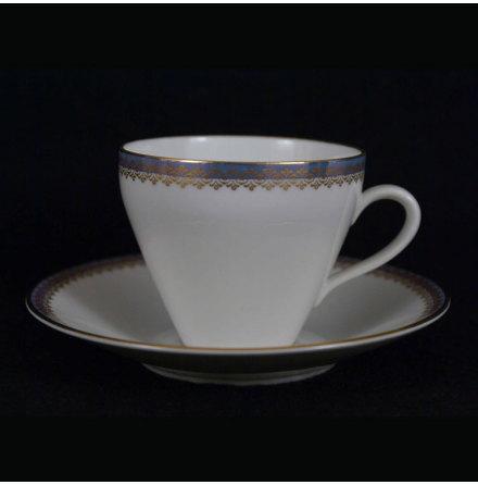 Menuett Kaffekopp med fat