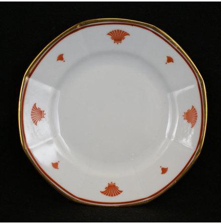 fler föremål Assiett dekor rödorange