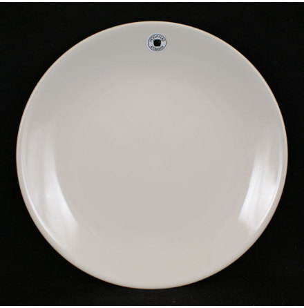 vit blank glasyr Assiett
