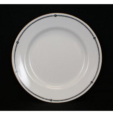 bård svart Assiett 21,5 cm