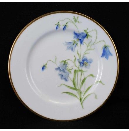 handmålade blomstermotiv Assiett 17,5 cm blåklocka