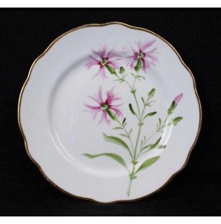 handmålade blomstermotiv Assiett 18,5 cm rosa