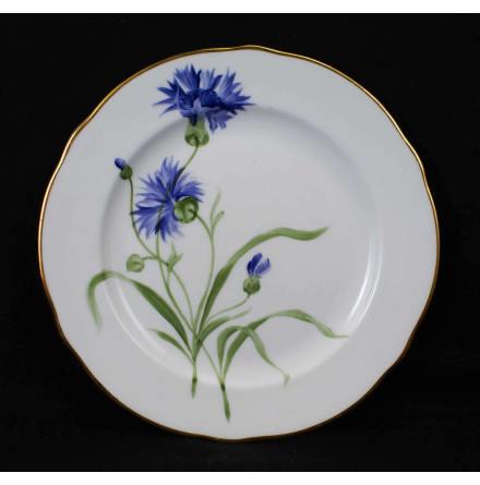 handmålade blomstermotiv Assiett 18,5 cm blåklint