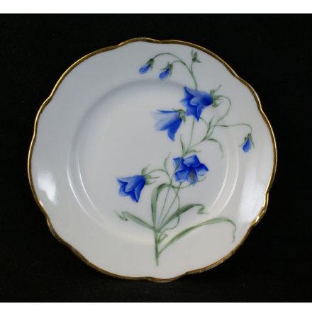 handmålade blomstermotiv Assiett 15,5 cm blåklocka
