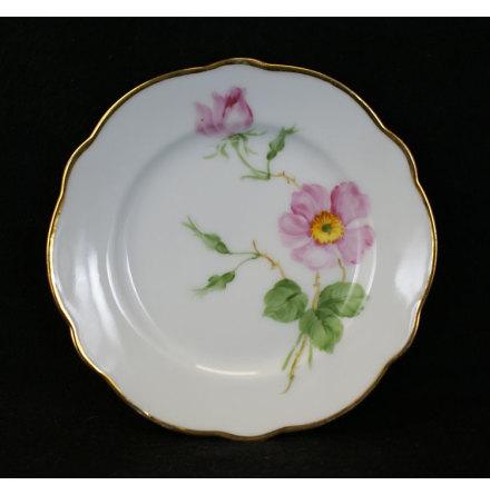 handmålade blomstermotiv Assiett 15,5 cm nyponros