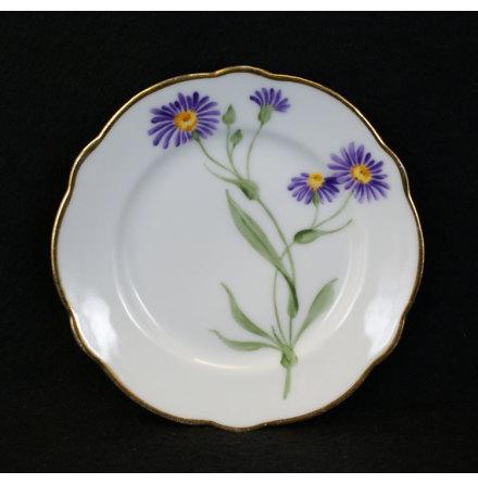 handmålade blomstermotiv Assiett 15,5 cm lila blomma