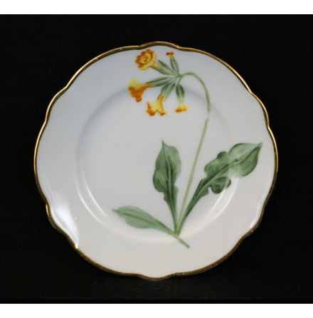 handmålade blomstermotiv Assiett 15,5 cm gullviva