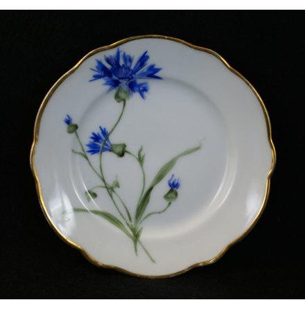 handmålade blomstermotiv Assiett 15,5 cm blåklint