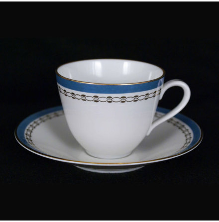 Diadem Kaffekopp med fat