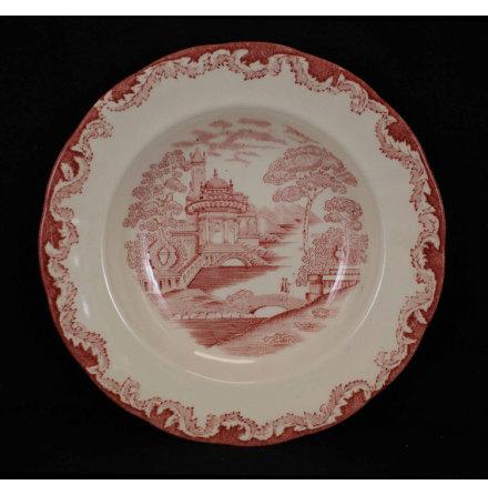 Bengali - röd Djup tallrik  21 cm