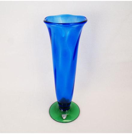 Louise - blå Vas