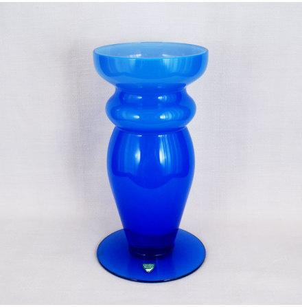 färgat glas Vas blå opak