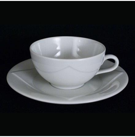 Quattro Bianco Kaffekopp med fat